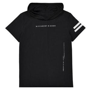 T-shirt à capuche imprimé 10 -16 ans La Redoute Collections