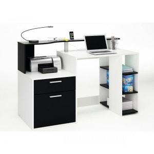 Bureau ordinateur compact noir TERRE DE NUIT