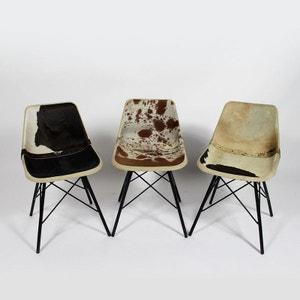 Chaise industrielle fourrure (couleurs diverses)  |  S103 MADE IN MEUBLES