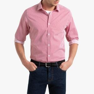 Gestreept hemd met lange mouwen, slim model