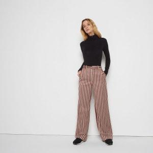 Pantalon large rayé MONOPRIX