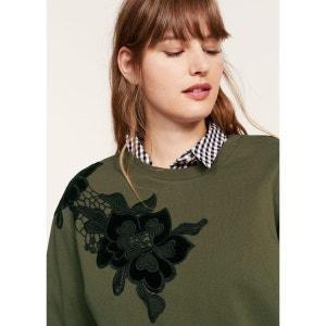 Sweater coton brodé VIOLETA BY MANGO