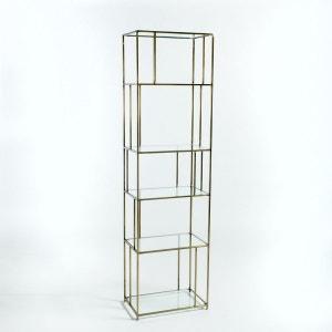 Bibliothèque verre/métal effet laiton, Parallel AM.PM