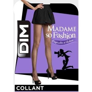 Collant Madame So Fashion résille 73 Deniers DIM