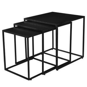 table basse carree noire la redoute. Black Bedroom Furniture Sets. Home Design Ideas