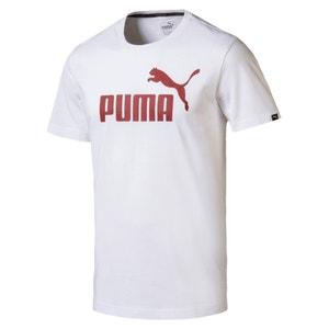 Camiseta lisa con cuello redondo y manga corta PUMA