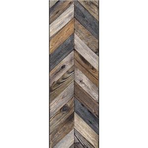 Papier peint Chevrons bois antique KOZIEL