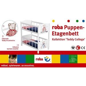 Roba 98831 Lit superposé en bois pour poupées Collection Teddy College. ROBA
