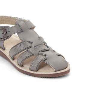 Leren sandalen met gesp La Redoute Collections