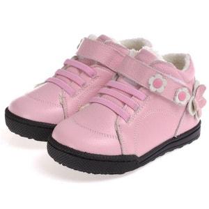 Chaussures semelle souple | Montantes fourrées rose CAROCH