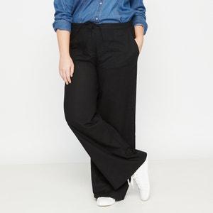 Pantalón de lino y algodón CASTALUNA