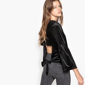 Bluse aus Samt, hübsche Rückenpartie La Redoute Collections