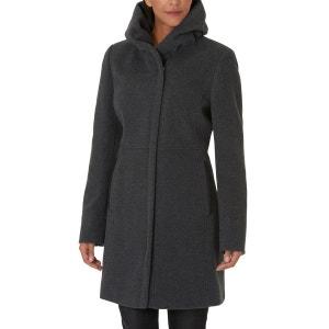 Manteau avec matelassage classique et jolie fourrure synthétique à la capuche GIL BRET