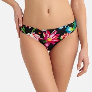 Bikinislip met bloemenprint