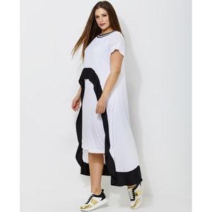 Long Printed Skater Dress MAT FASHION