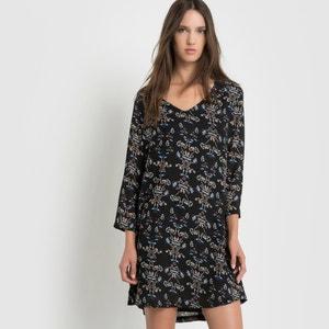 Sukienka z tkaniny z nadrukowanym wzorem SUNCOO