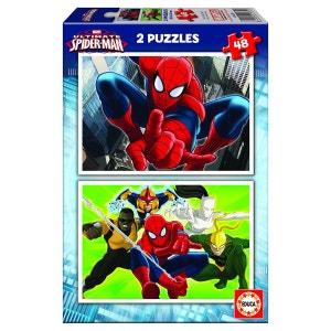 Puzzle 2 x 48 pièces : Ultimate Spider-Man EDUCA