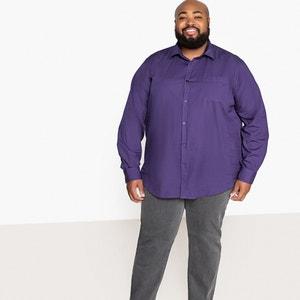 Recht hemd met lange mouwen, grote maten