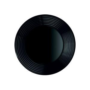 Assiette creuse ondulé 23 cm Harena Black LUMINARC