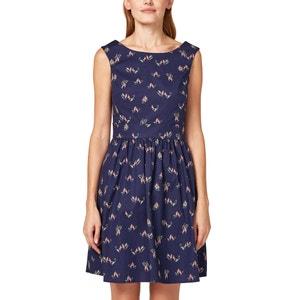 Bedrucktes Kleid mit Ausschnitt hinten ESPRIT