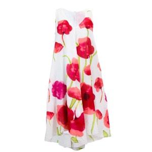 Robe Imprimée Sans Manches 0103 Blanc PALME
