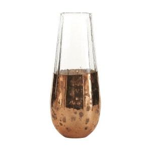 Soliflore en verre et métal vieilli BOIS DESSUS BOIS DESSOUS