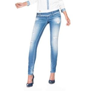 Pantalon en jean Push Up Wonder avec détail vintage et taille double SALSA