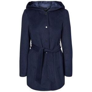 Manteau à capuche mi-long drap de laine VERO MODA