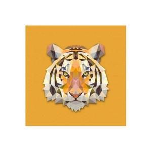 Tableau Animaux Tigre Orange 60X60 DECLIKDECO