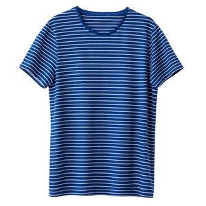 T-shirt de gola redonda, riscas, 100% algodão La Redoute Collections
