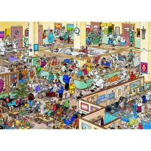 Puzzle 1000 pièces - Jan Van Haasteren : Bon rétablissement JUMBO
