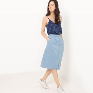 Light Denim Midi Skirt R édition