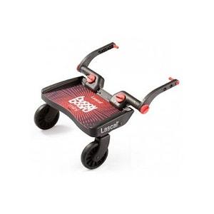 Planche à roulettes pour poussette Buggy Board Mini Noir Rouge LASCAL