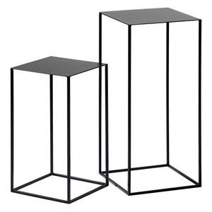 Uitschuifbare tafeltjes in gelakt metaal (set van 2) Romy AM.PM.