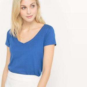 T-shirt col V, coton BIO R essentiel