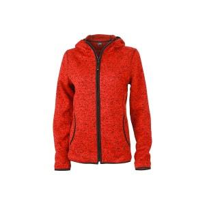 veste en jean rouge femme la redoute. Black Bedroom Furniture Sets. Home Design Ideas
