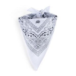 Foulard bandana blanc ALLEE DU FOULARD