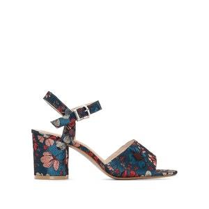 Sandalias con detalle estampado de flores del 38 al 45, pie ancho CASTALUNA