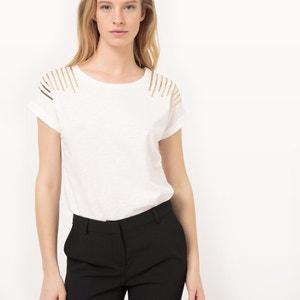 T-shirt lisa com gola redonda, mangas curtas La Redoute Collections