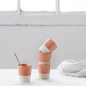 4er-Set Kaffeetassen aus Steingut HELLO BLOGZINE X LA REDOUTE