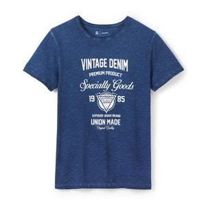 T-shirt col rond imprimé vintage R essentiel