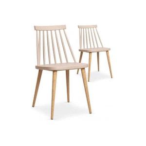 Lot de 2 chaises scandinaves beiges TAPLA DECLIKDECO