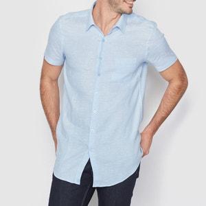 Recht hemd, 100% linnen R essentiel