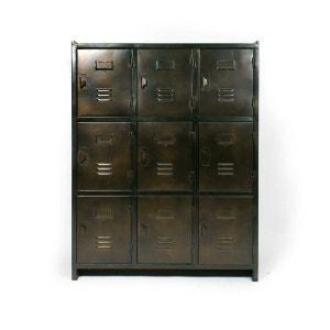 Armoire industrielle 9 casiers, marron cuivré     S99 MADE IN MEUBLES