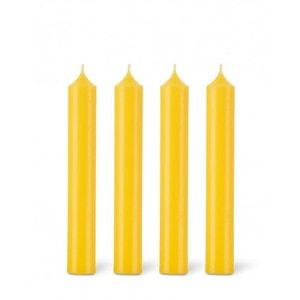 Coffret 12 bougies classiques 7h jaune citron BOUGIES LA FRANÇAISE