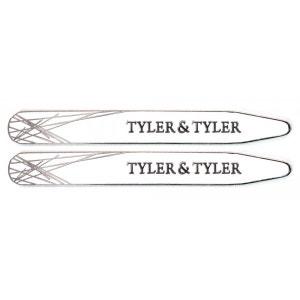 Baleines de col, Tyler & Tyler, Diffusion collar Stiffener, White, In Wallet TYLER ET TYLER