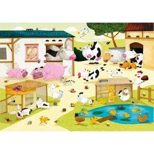 Puzzle en bois - Art maxi 12 pièces - Huette : La ferme PUZZLE MICHELE WILSON