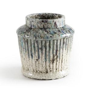 Bloempot in geëmailleerd keramiek H19,5 cm, Rupani