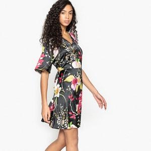 Wijd uitlopende korte jurk met bloemenprint VERO MODA