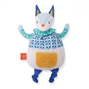 Doudou d'éveil : Loup bleu L OISEAU BATEAU